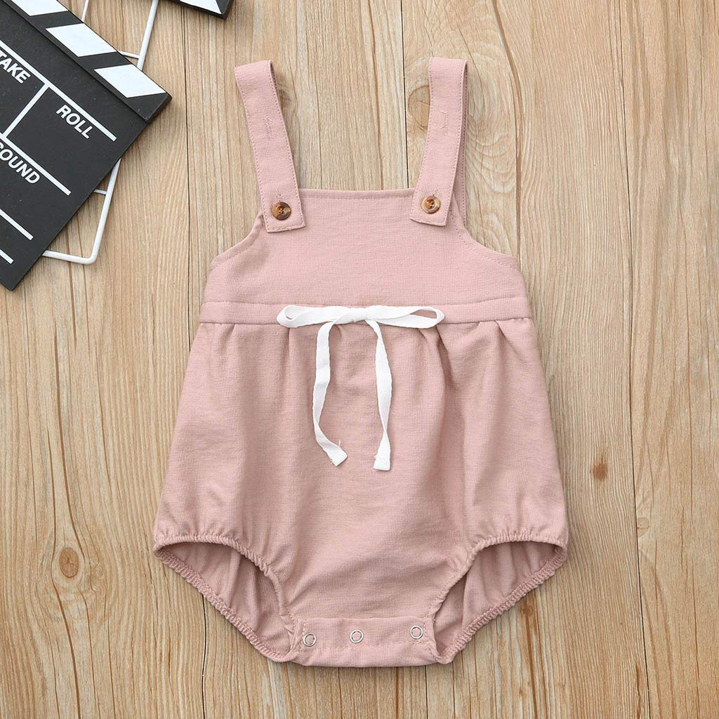 Fatchot Infant Baby Girl Fashion Bib Romper Summer Suspenders Shorts Newborn Baby Overall Outfits Jumpsuit Clothes