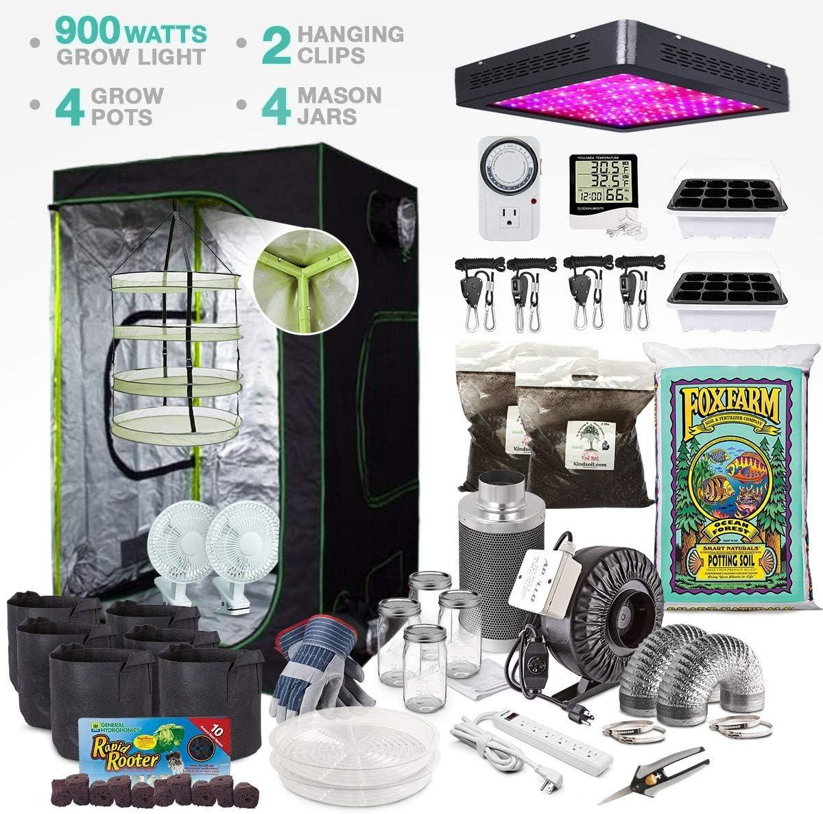 """Complete Indoor Grow Tent Kit 48""""x48""""x72"""" Tent"""