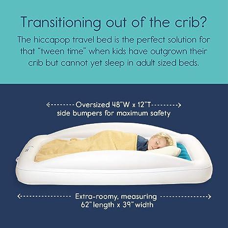 Amazon.com: hiccapop - Cama hinchable de viaje para niños ...