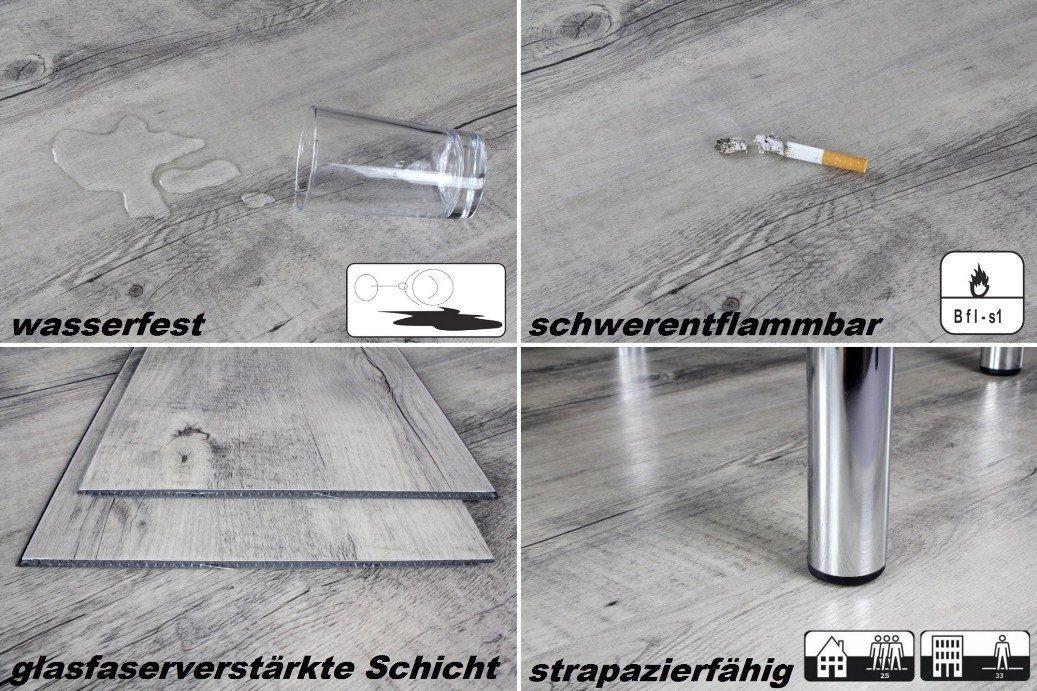 Schön 1 m² Vinylboden in 4,2mm Uniclic Dielen Klick Vinyl Nutzschicht 0  DS69