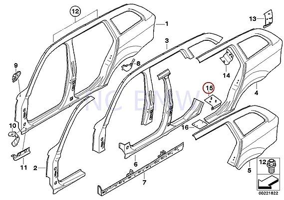 amazon bmw genuine rocker panel reinforcement plate automotive 2000 BMW 328I