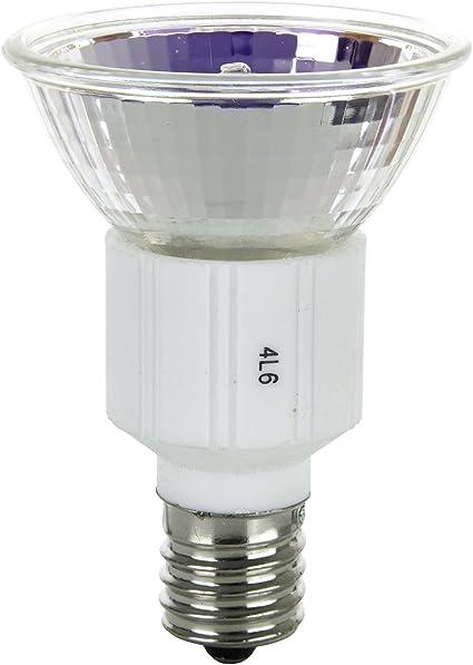 3200K Bright White Base E17 Sunlite Series 75JDR//N//E17//FL//120V//6PK Halogen 75W 120V JDR Flood Light Bulbs 6 Pack Intermediate