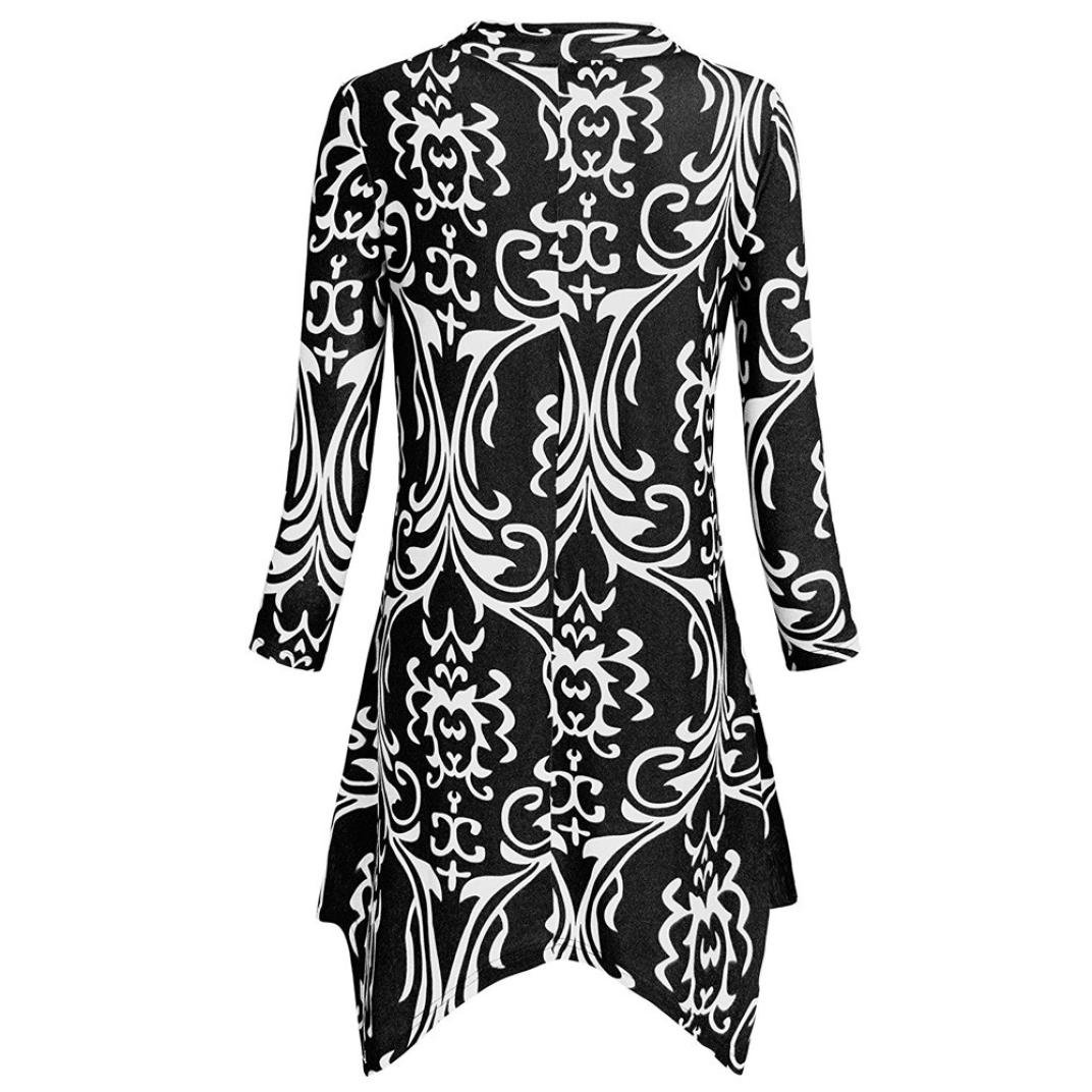 6626c45949b Dressffe Irregular Loose Three Quarter Sleeve Shirt Casual Flare Tunic  Blouses for Women Fashion 2018 at Amazon Women's Clothing store: