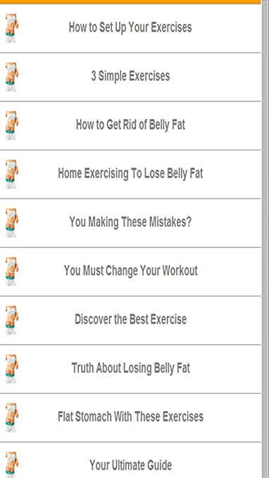 Amazon Com Exercises To Lose Belly Fat Fast Appstore For