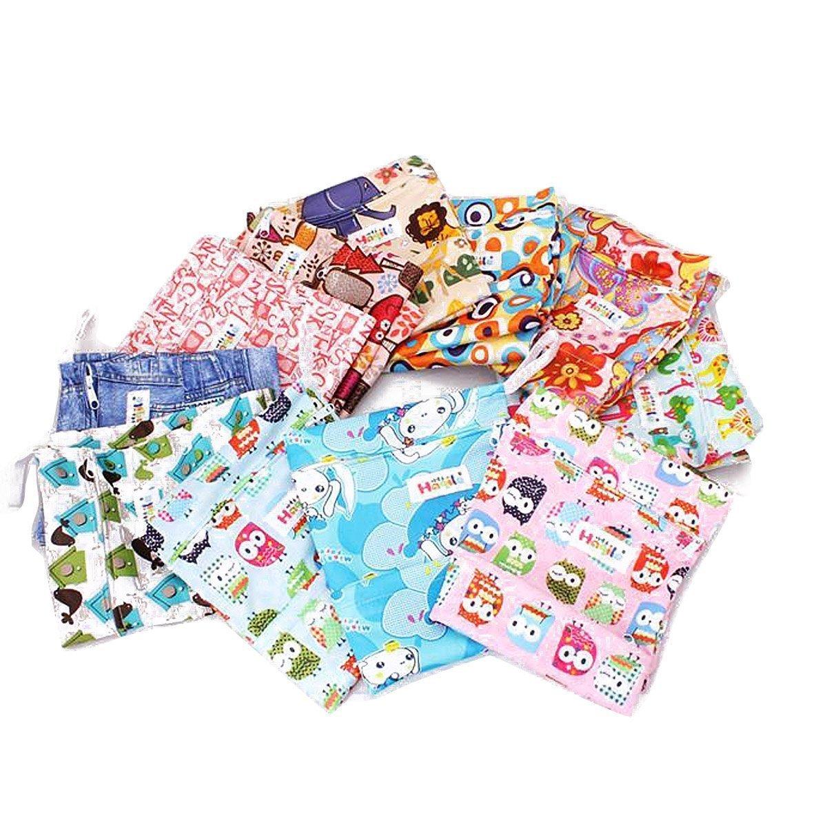 Wet bag washable reusable cloth diaper nappies bags waterproof  Hf