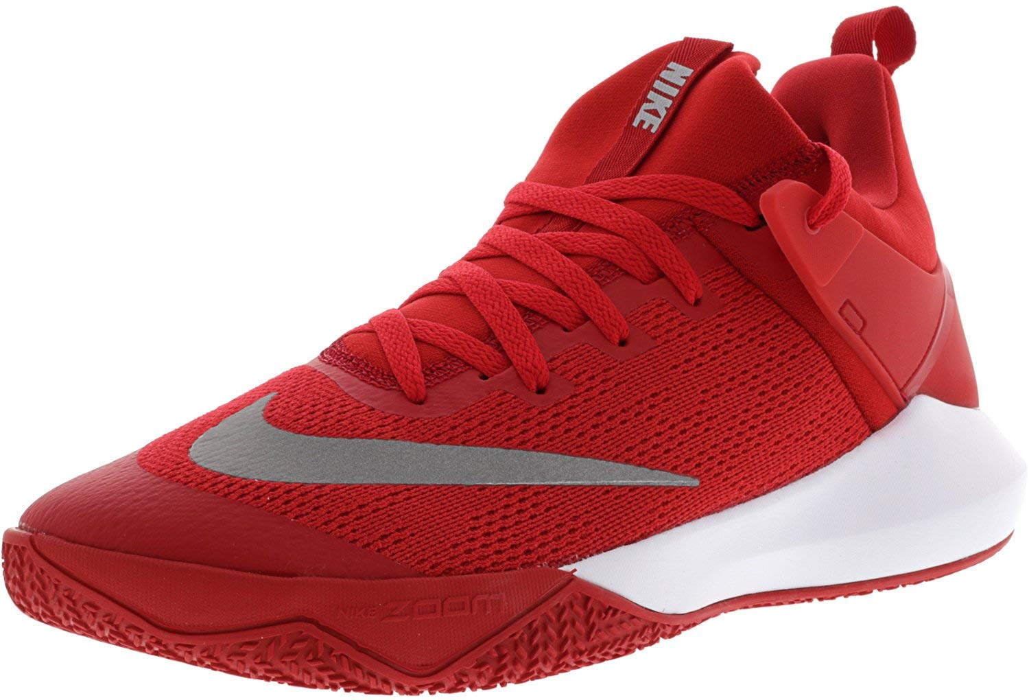 53749731961 Galleon - Nike Men s Zoom Shift Tb University Red White Ankle-High Mesh Basketball  Shoe - 11.5M