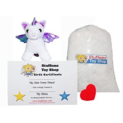Make Your Own Stuffed Animal Mini 8 Inch Moonbeam The Pegasus Kit - No Sewing Required!: Toys & Games