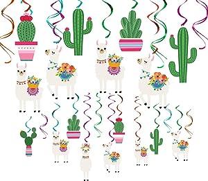 Llama Cactus Party Supplies Decorations - Mexican Fiesta/Cino De Mayo Cactus Llama Birthday Party Supplies Decorations - Bolivian Peru Alpaca Party Cactus Baby Shower Succulent Party Home Decor