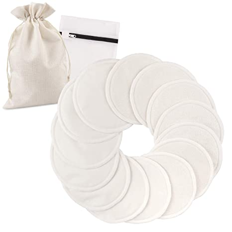 Bamboo Breast Nursing Pads Reusable Breastfeeding Pack of 10 20