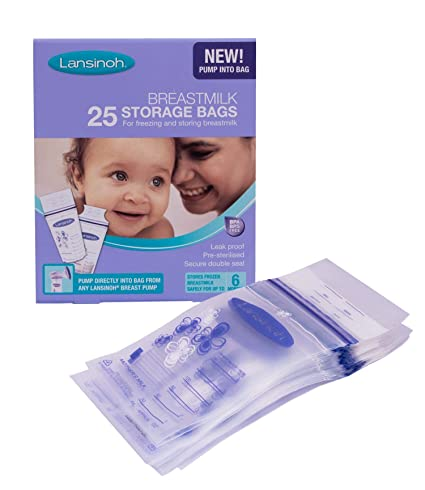 Lansinoh - Bolsas de almacenamiento para leche (25 unidades ...
