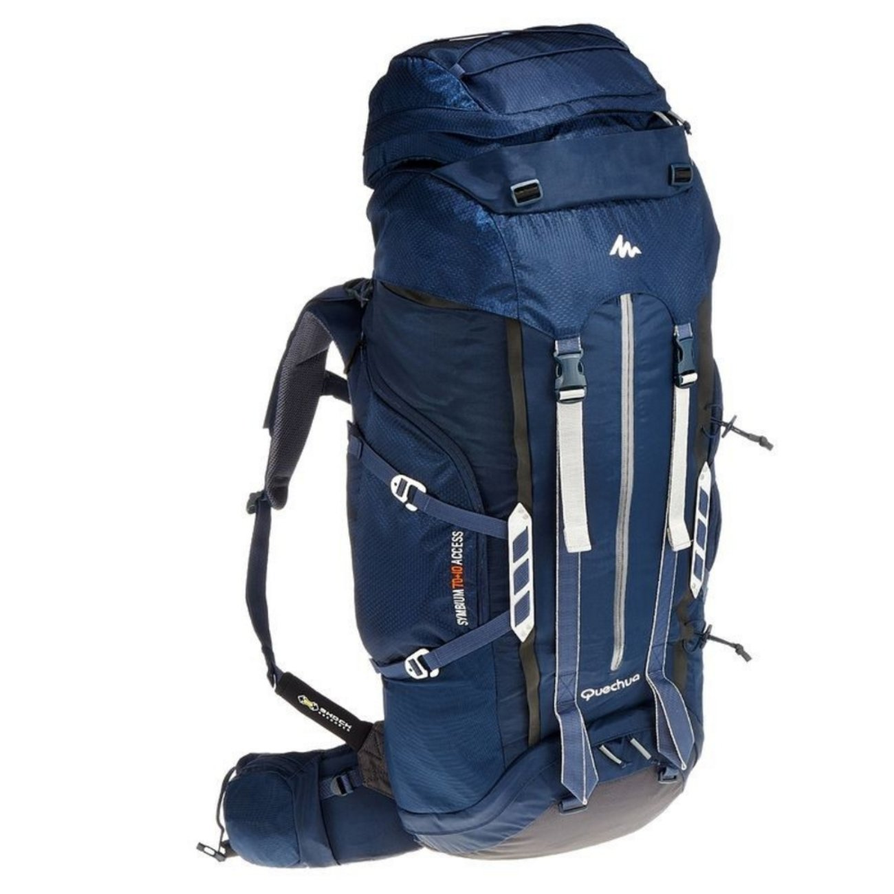 Decathlon Quechua symbium 70 + 10l Multidayトレッキングバックパックダークブルー B019A4HJGE