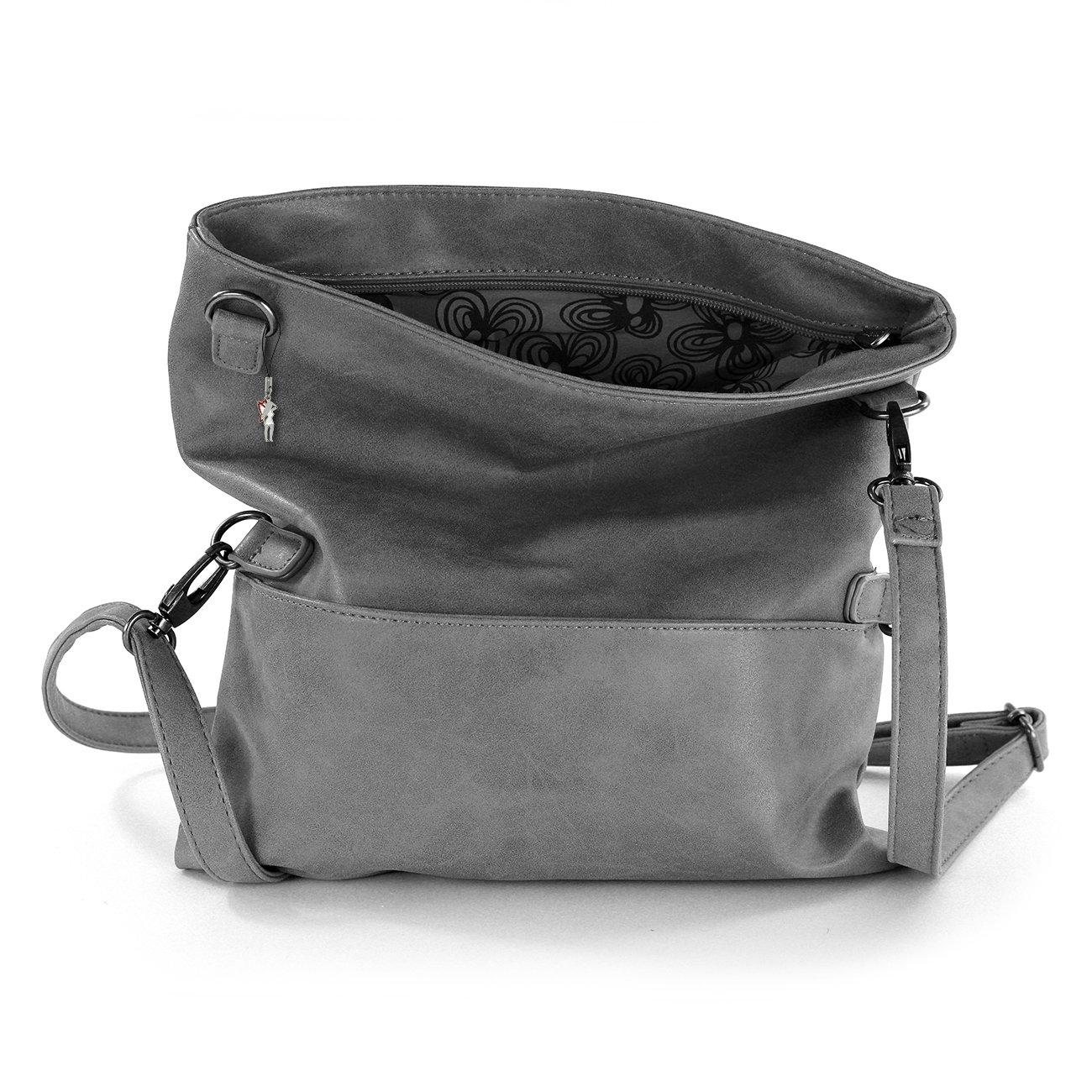 Abendtasche Clutch Jennifer Jones grau Damen Handtasche Umhängetasche OTJ800K