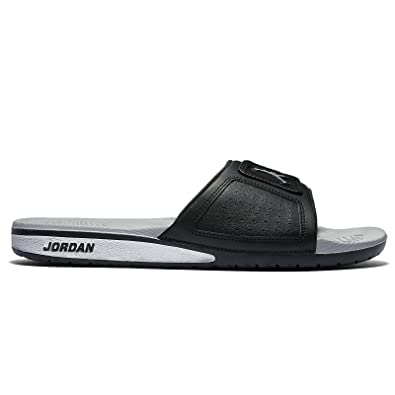 5cdacf91885fc1 Nike Jordan Men s Jordan Hydro III Retro Black Metallic Silver White Sandal  9 Men
