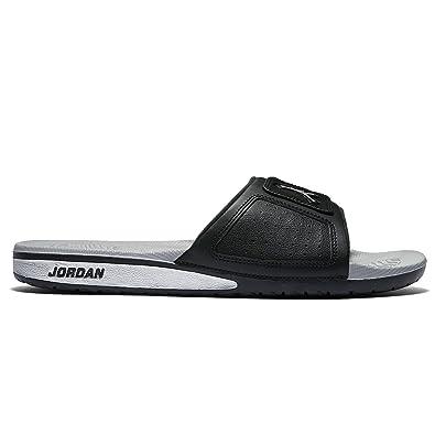 4c07e3d32d2a0 Nike Jordan Men s Jordan Hydro III Retro Black Metallic Silver White Sandal  9 Men