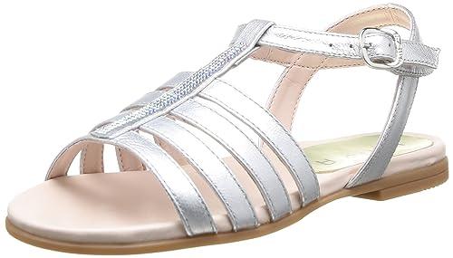 1a2bdc7e7 Unisa Leire Sm - Sandalias deportivas de piel de borrego para niña Plata  Argent (Silver) 27: Amazon.es: Zapatos y complementos