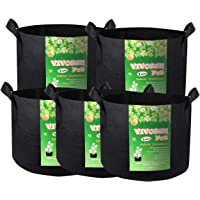 VIVOSUN Heavy Duty Thickened Nonwoven Fabric Grow Bags Pot with Handles