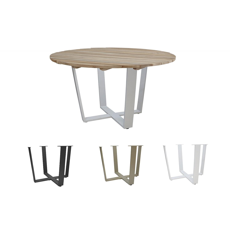 4Seasons Outdoor Cricket Esstisch Tischplatte ø 130 cm 4 Gestellfarben möglich Gestellfarbe Taupe