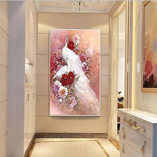 DIY Flower 5D Full Drill Diamond Painting Cross Stitch Kits Mural Wall Decor