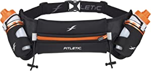 Fitletic Hydra 12 V2 Hydration Belt | Unique Zero Bounce Design for Running, Triathlon, Ironman, Marathon, 10K, 5K, Trail | Range of Sizes and Colors