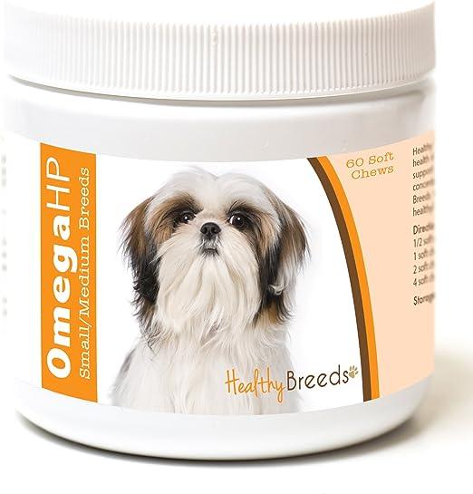 Healthy Breeds Omega HP Fish Oil Skin & Coat Supplement Soft Chews - Over 200 Breeds - Vet Recommended Formula Based on Breed - Helps Reduce Shedding