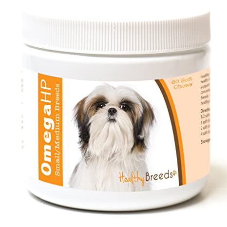 Amazon.com : Healthy Breeds Omega-HP Skin and Coat Soft Chews, Shih ...