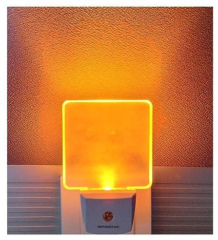 2Pcs Lámpara Nocturna con Smart Automático Sensor 0.5W LED Luz de Noche con Enchufe de