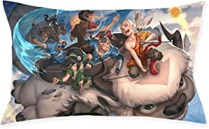 JAPYZEY Avatar The Last Airbender Pillowcase Throw Pillow Covers Zipper Pillowcase Both Sides Print Cushion Cover for Sofa Living Room Bedroom Dorm Decor 20x30 Inch