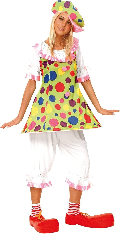 LUCIDA - Disfraz de payaso para mujer: Amazon.es: Juguetes y juegos