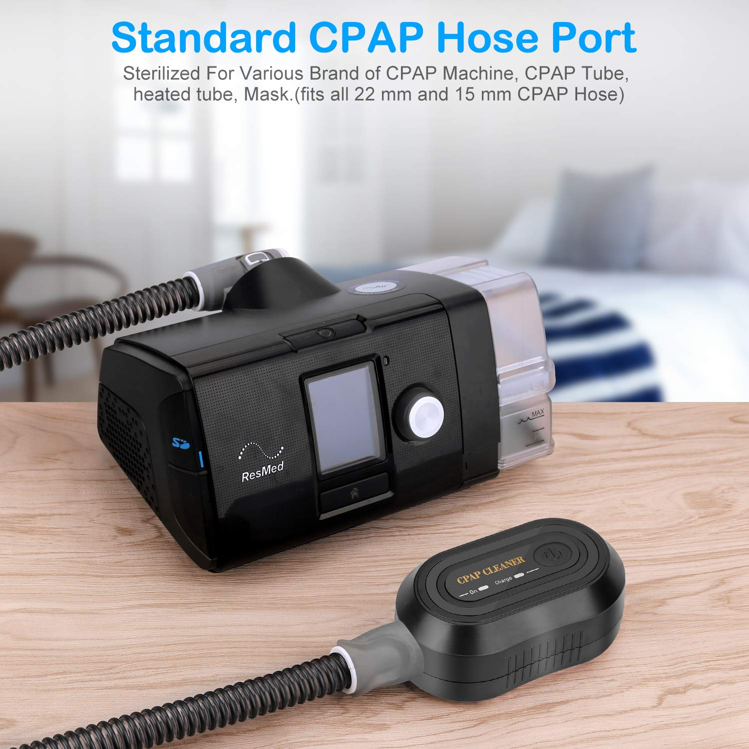 Moocoo 2019 Upgraded CPAP Cleaner - Portable Mini CPAP Cleaning machine -  Suits for CPAP Machine