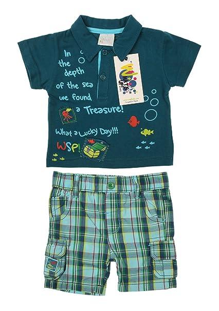Kids - Conjunto - Cuadrados - para niño azul azul: Amazon.es: Ropa y accesorios