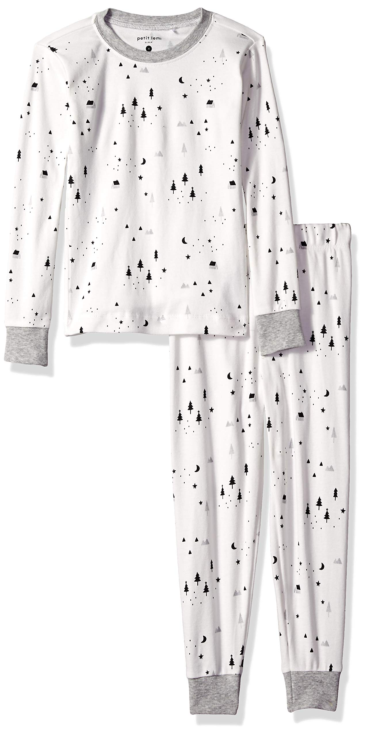 Petit Lem Kids' Little Holiday Unisex 2-Pc Pajama Set, Comfy, Cute & Cozy, Off White, 7 by Petit Lem (Image #1)