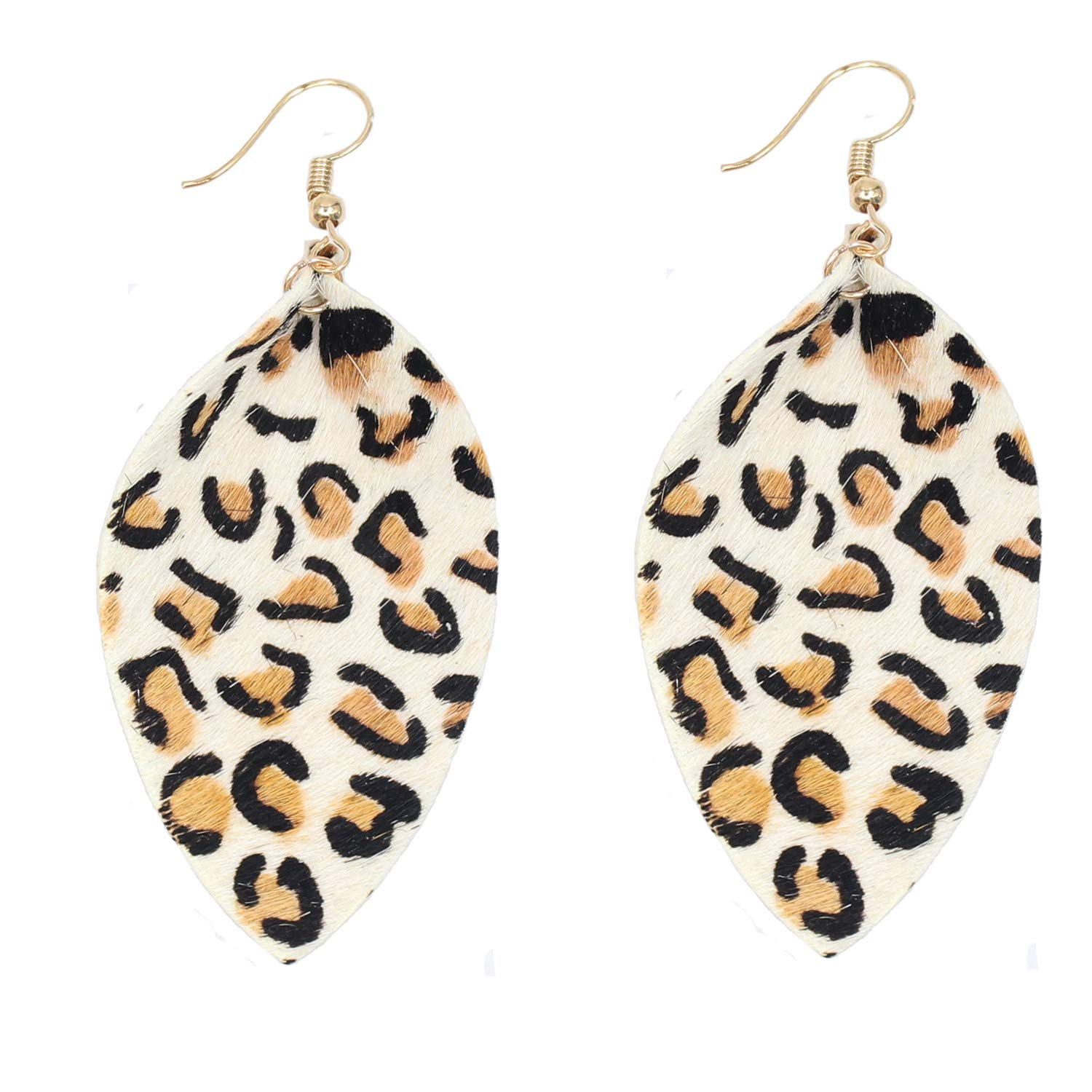KSQS Leather Fur Teardrop Earrings Leaf Drop Soft and Lightweight Dangle for Women&Girl Ltd