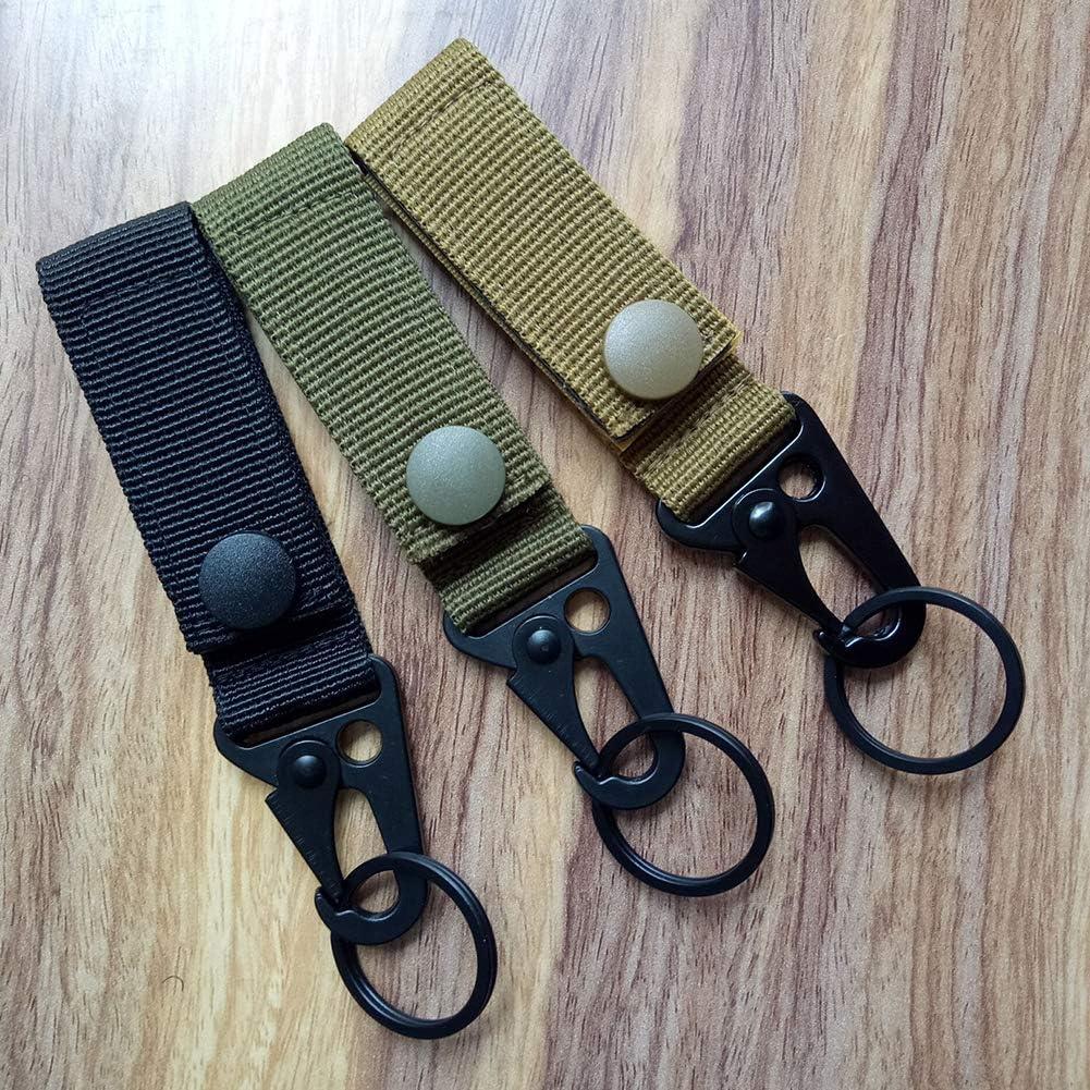 Nai-Style Tessitura di Nylon Gancio per Cintura Titolare Sacchetto della Catena Chiave moschettone Tactical Gear Quick Clip Chiave di sblocco Titolare Catena Zaino Esterno Molle Sacchi Neri