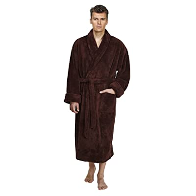 Arus Men's Shawl Fleece Bathrobe Turkish Soft Plush Robe at Amazon Men's Clothing store