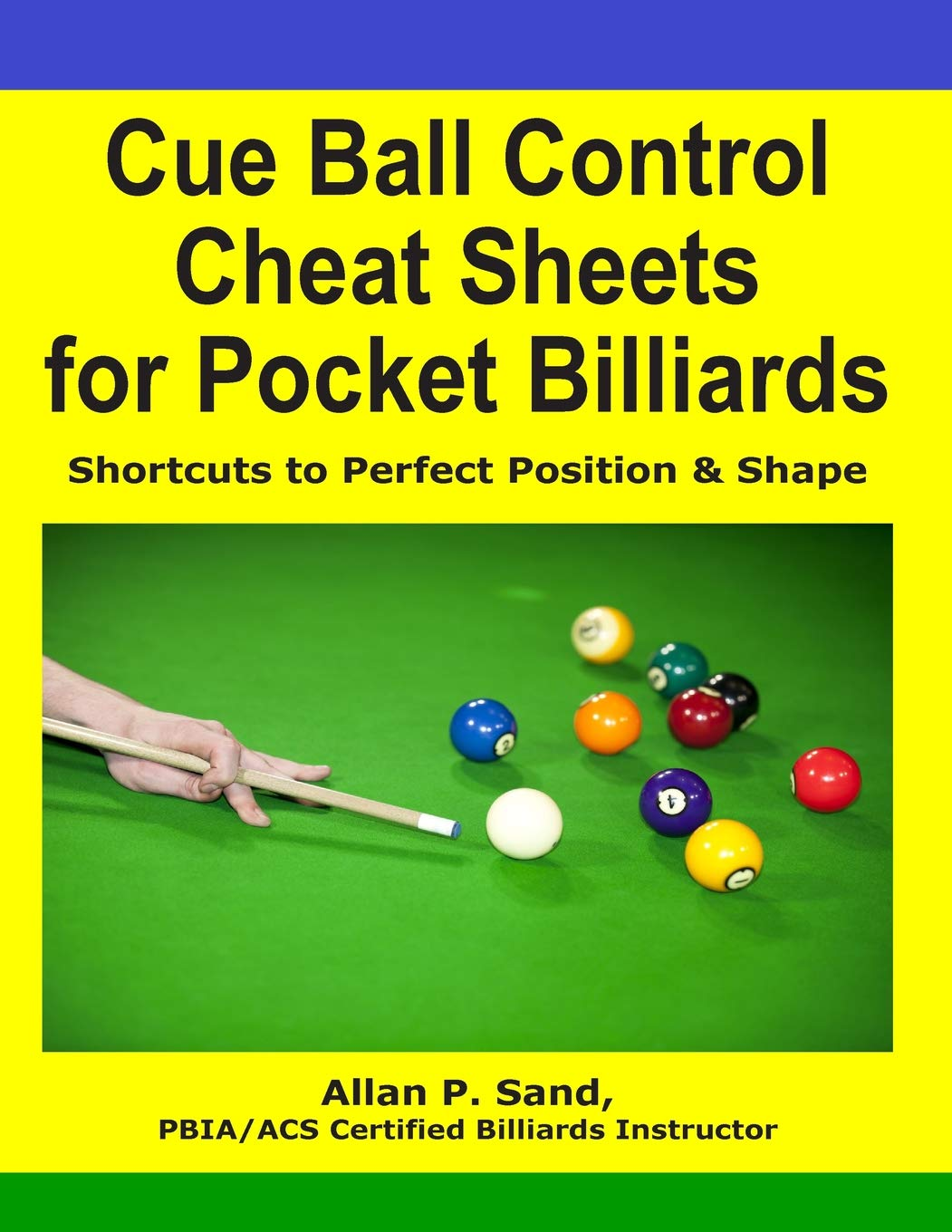 Cue Ball Control Cheat Sheets for Pocket Billiards