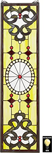 Design Toscano The Belvedere Tiffany-Style Stained Glass Window, Sunny Yellow