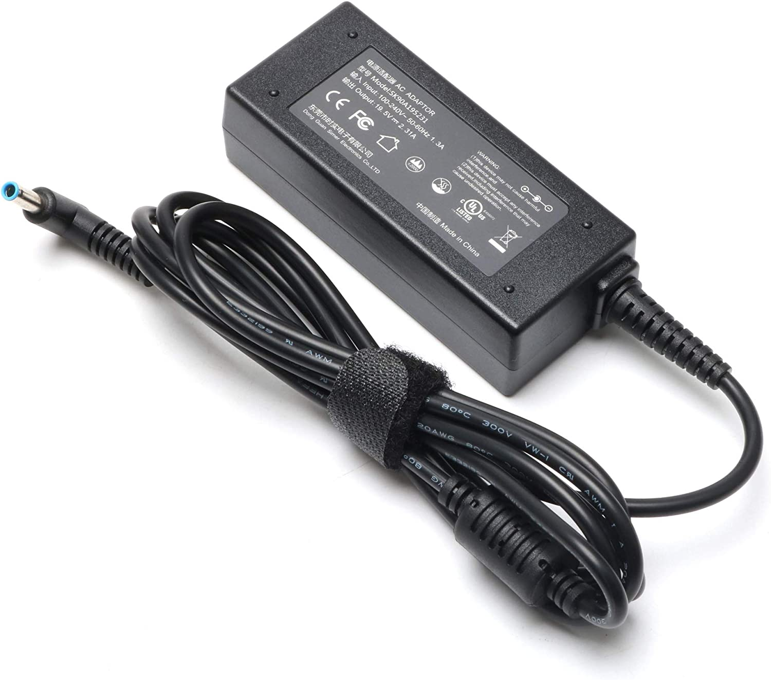 45W Laptop AC Adapter for HP Stream X360 Charger 11-d010wm 11-d011wm 11-d020nr 11-r010nr 11-r014wm 11-r015wm 11-r020nr 13-c002dx 13-c010nr 13-c110nr 14-ax020wm 14-ax030wm Notebook Convertible PC