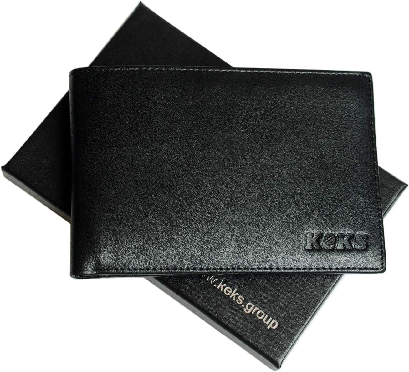 RFID Travel Organizer Wallet Document Case KEKS Genuine Leather Passport Holder