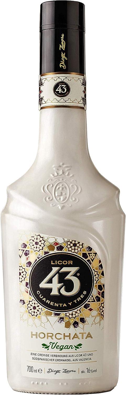 Licor 43 Horchata - Fusión Licor 43 y Horchata Valenciana - Licor Vegano y apto para Celiacos - Sin Gluten - Botella 700 ml