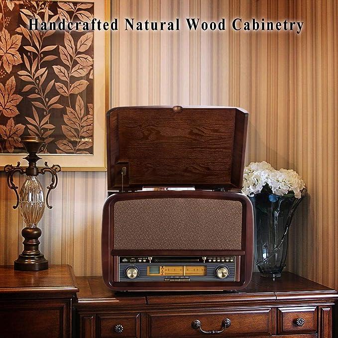 Amazon.com: RCM Nostalgic Centro 6 en 1 de madera con ...