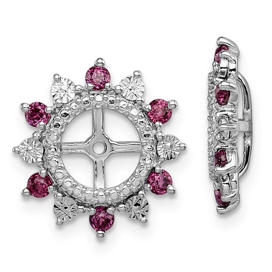 ICE CARATS 925 Sterling Silver Rhodolite Red Garnet Earrings Jacket Birthstone June Fine Jewelry Ideal Gifts For Women Gift Set From Heart