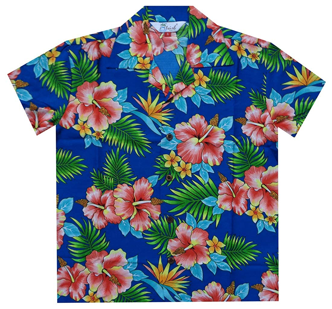 Hawaiian Shirts Boys Allover Flower Beach Aloha Party Camp Holiday Casual