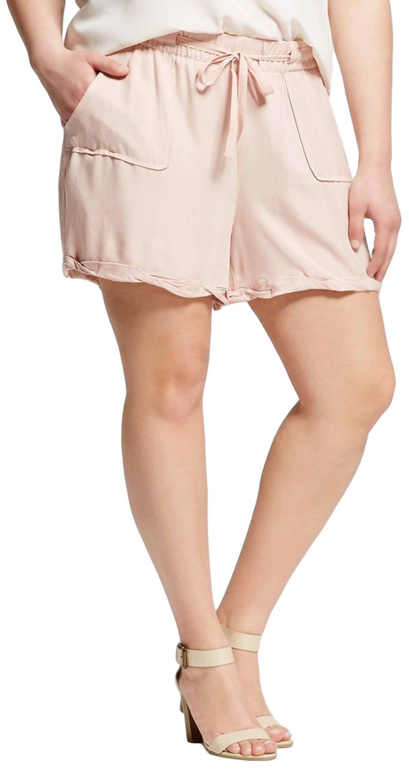 J'aime Women's (Juniors') Plus Size Lanai Shorts (1X, Rose Smoke)