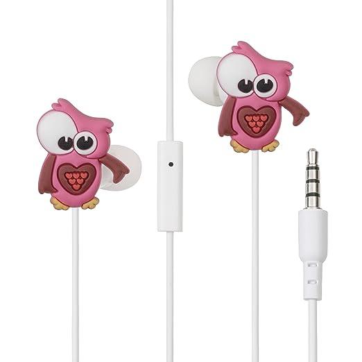 38 opinioni per Auricolari gufo rosa universali con microfono LolaChat Rosina (compatibili con