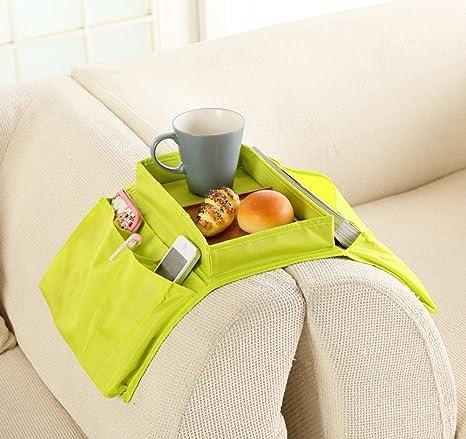 Kimjun 6 bolsillos TV mando a distancia soporte Caddy bandeja de sofá sofá brazo resto organizador