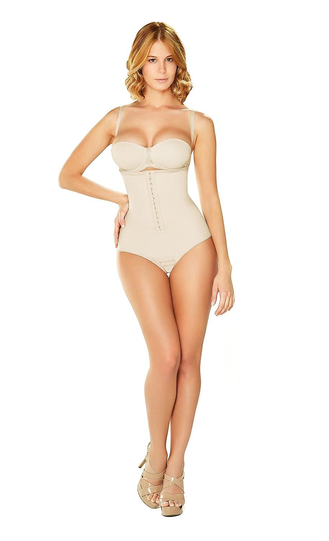 Beige DIANE & GEORDI 002376 Shapewear Bodysuit Thong for Women   Fajas Colombianas