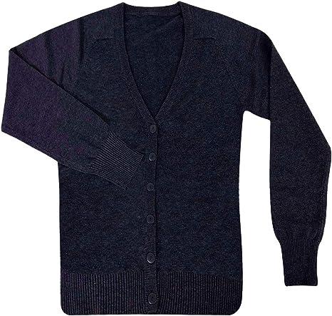 Size S M L XL adam /& eesa Kids Boys Girls School Jumpers Cardigans Sweaters Navy Grey Ages 11-12