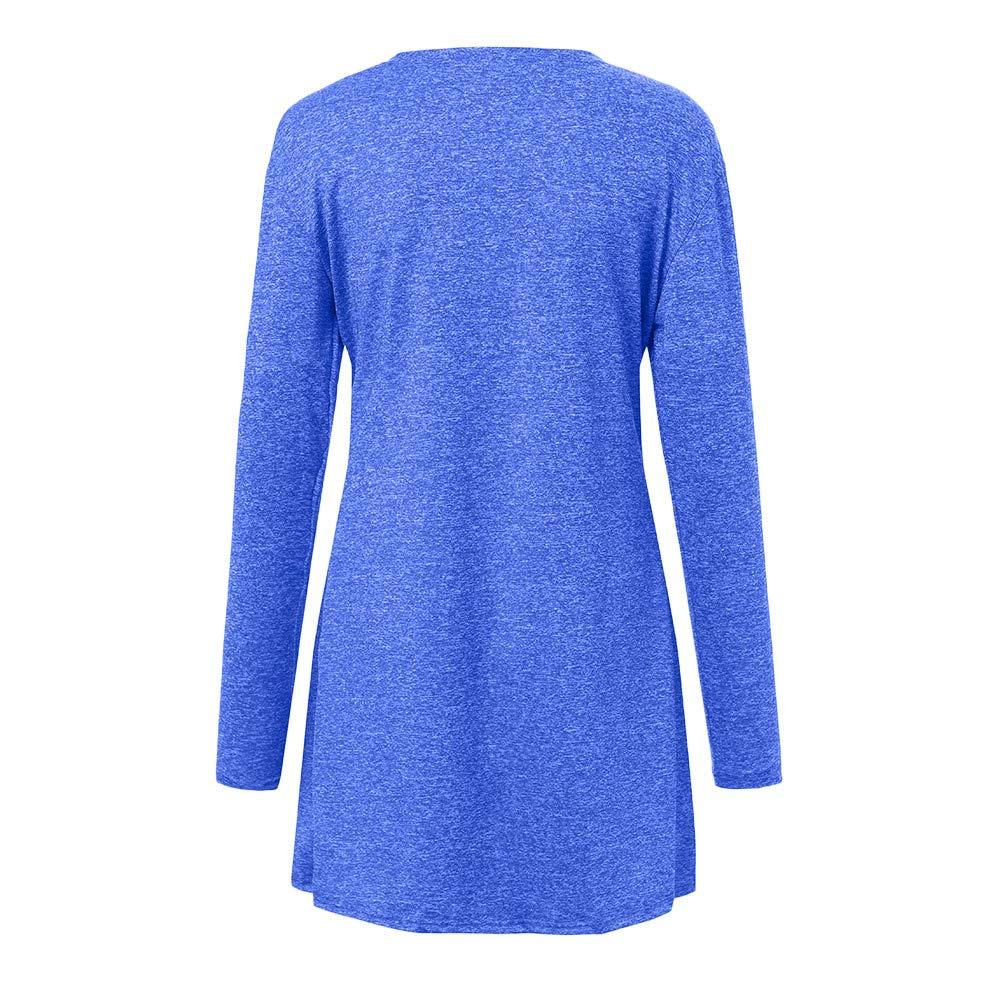 Linlink Mujeres Jersey de Punto suéteres Cardigan de Lana Frente a la Capa de Abrigo de Lana para Mujer con Desgaste Bolsillos: Amazon.es: Ropa y accesorios
