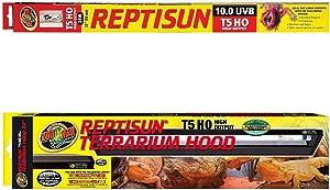 "Reptisun 26053 T5 HO Terrarium Hood, 24"" + (1 Bulb Inside + 1 Extra) Lamp ReptiSun 5.0 & 10.0 UVB T5 HO, 24 Watts"