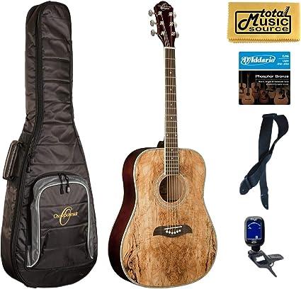 Oscar Schmidt OG2SM Guitarra Acústica – madera de arce) funda Bundle: Amazon.es: Instrumentos musicales